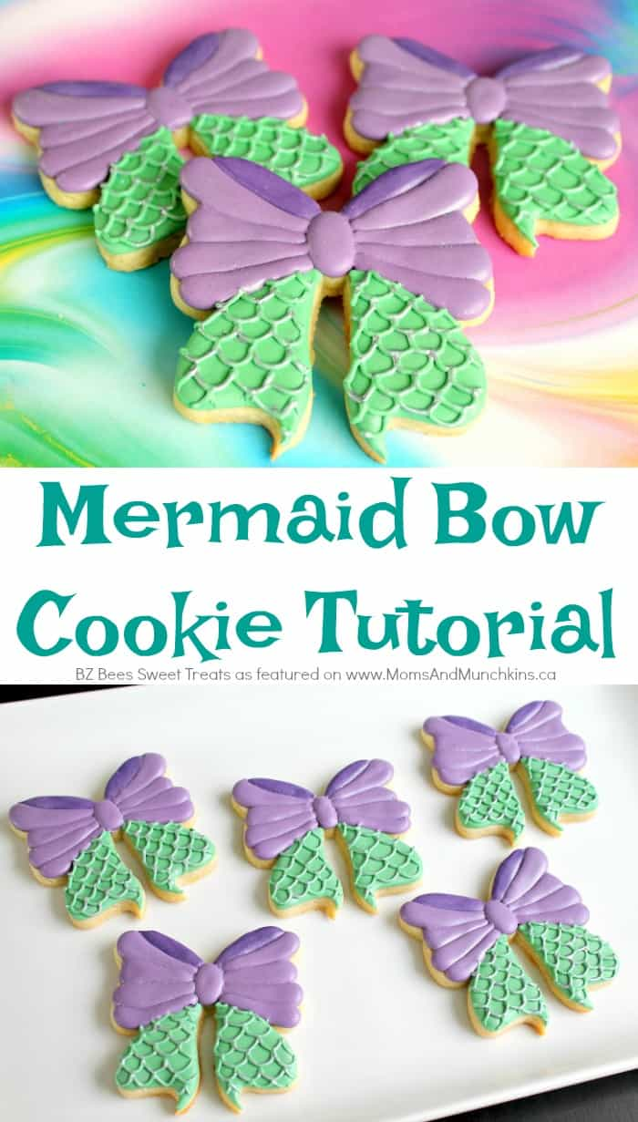 Mermaid Bow Cookies Tutorial