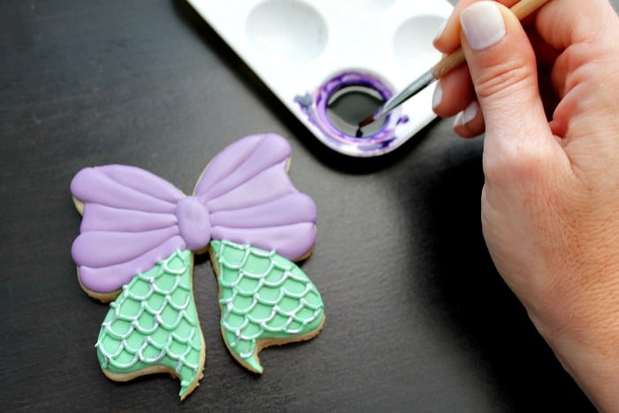 Mermaid Bow Cookie Decorating Tutorial