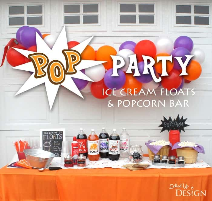 Ice Cream Float Bar Party