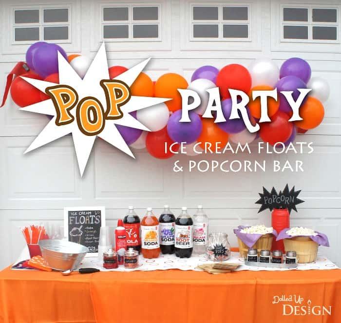 Ice Cream Float Bar Party
