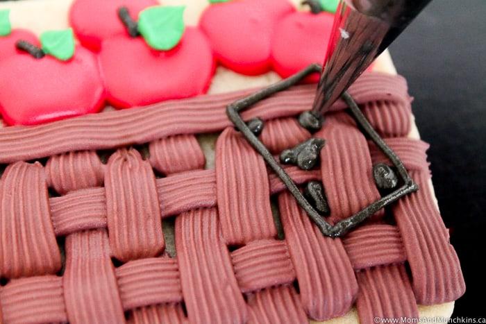 Apple Basket Cookies Decorating Tutorial