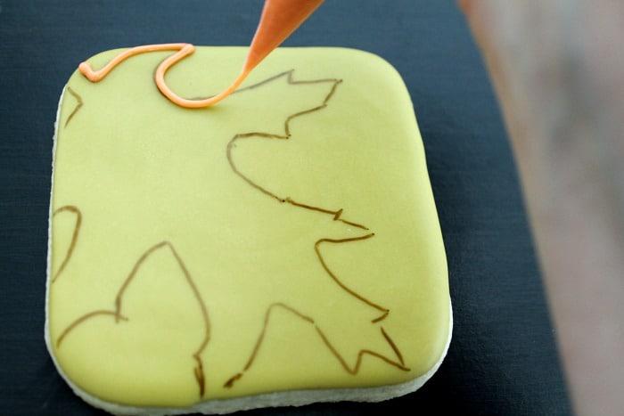 Autumn Leaves Cookies Decorating Tutorial