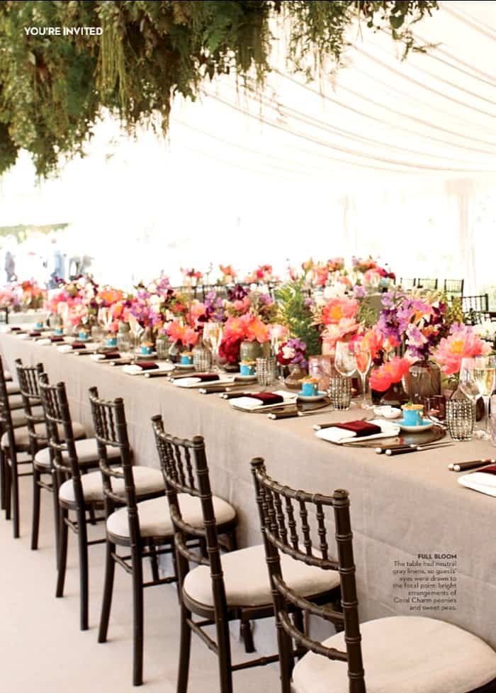 Pretty Wedding Reception Table Decor
