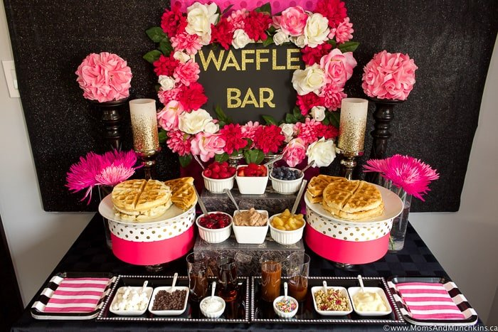 Waffle Bar Ideas And Recipes Moms Amp Munchkins
