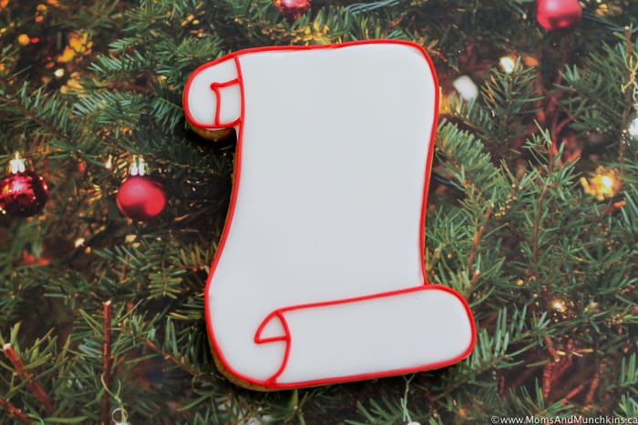 Santa's List Cookies Decorating Tutorial