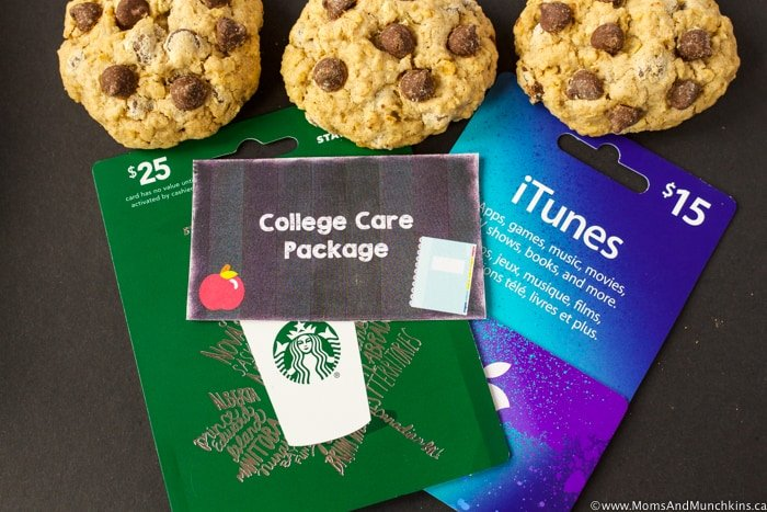 College Care Package Ideas with Free Printables