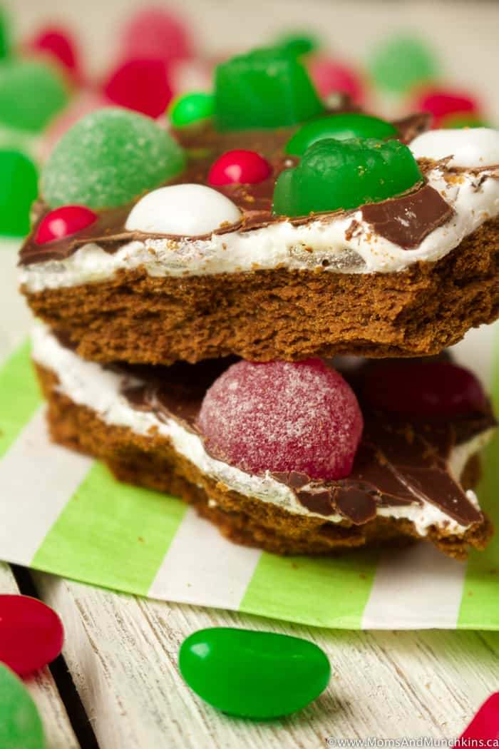 Gingerbread House Bark Recipe