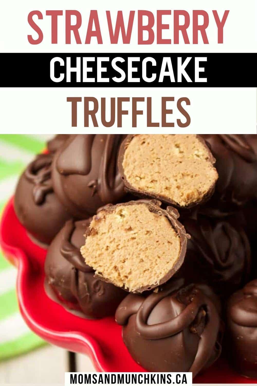 Strawberry Cheesecake Truffles