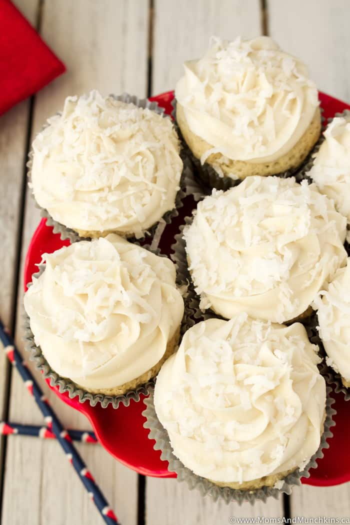 Coconut Cupcakes Recipe with Frosting