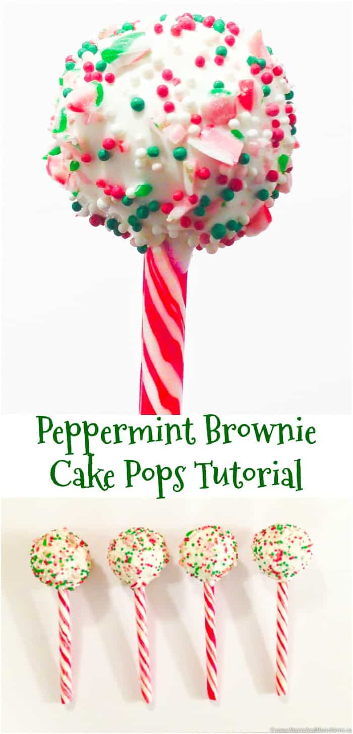 Peppermint Brownie Pops Recipe and Tutorial