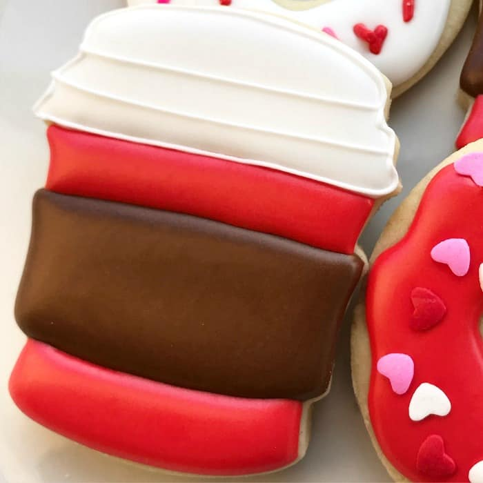 Latte and Donuts Cookies Decorating Tutorial