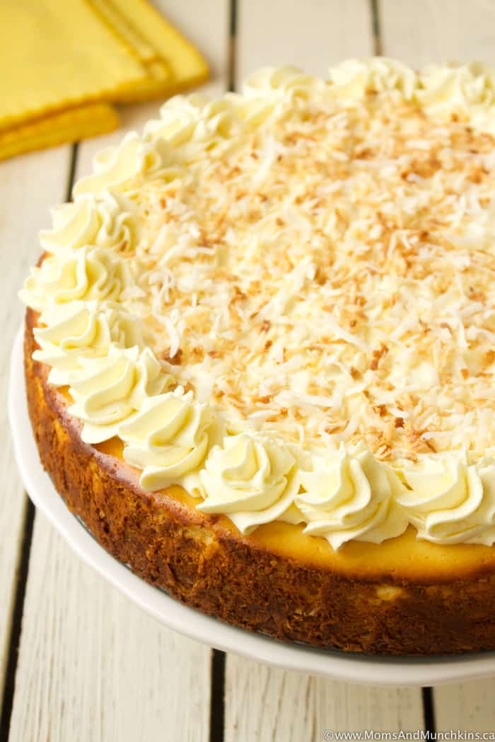 Lemon Coconut Cheesecake Recipe