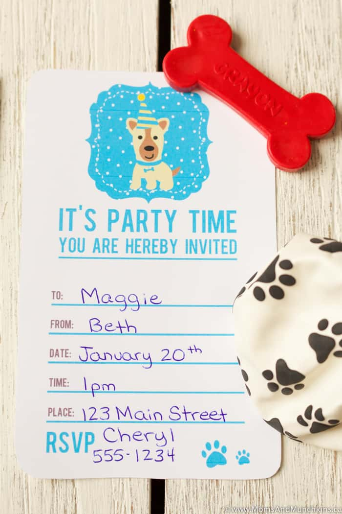 Puppy Pawty Ideas and Free Printables - Moms & Munchkins