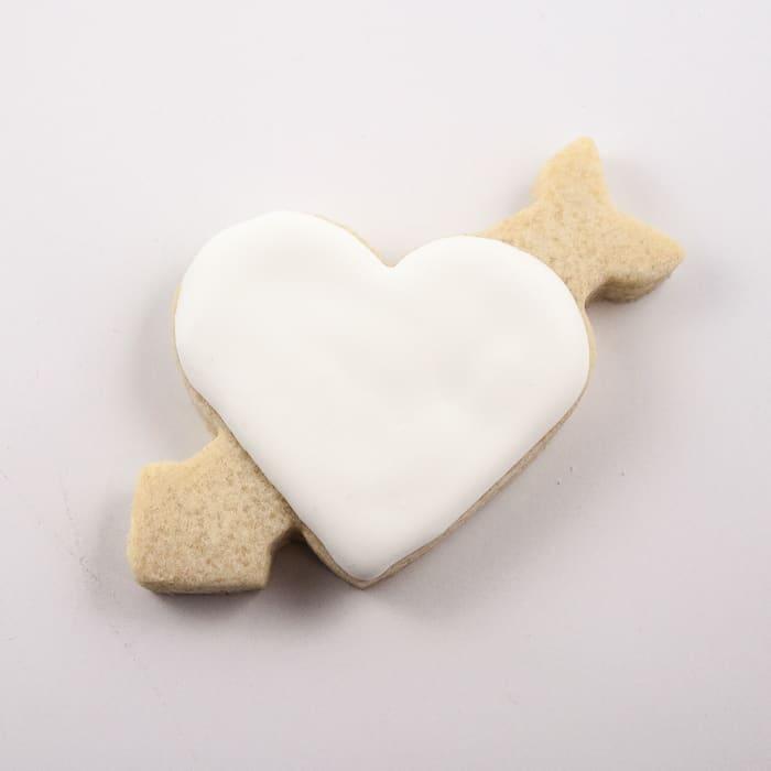 Rose Heart Cookies Decorating Tutorial
