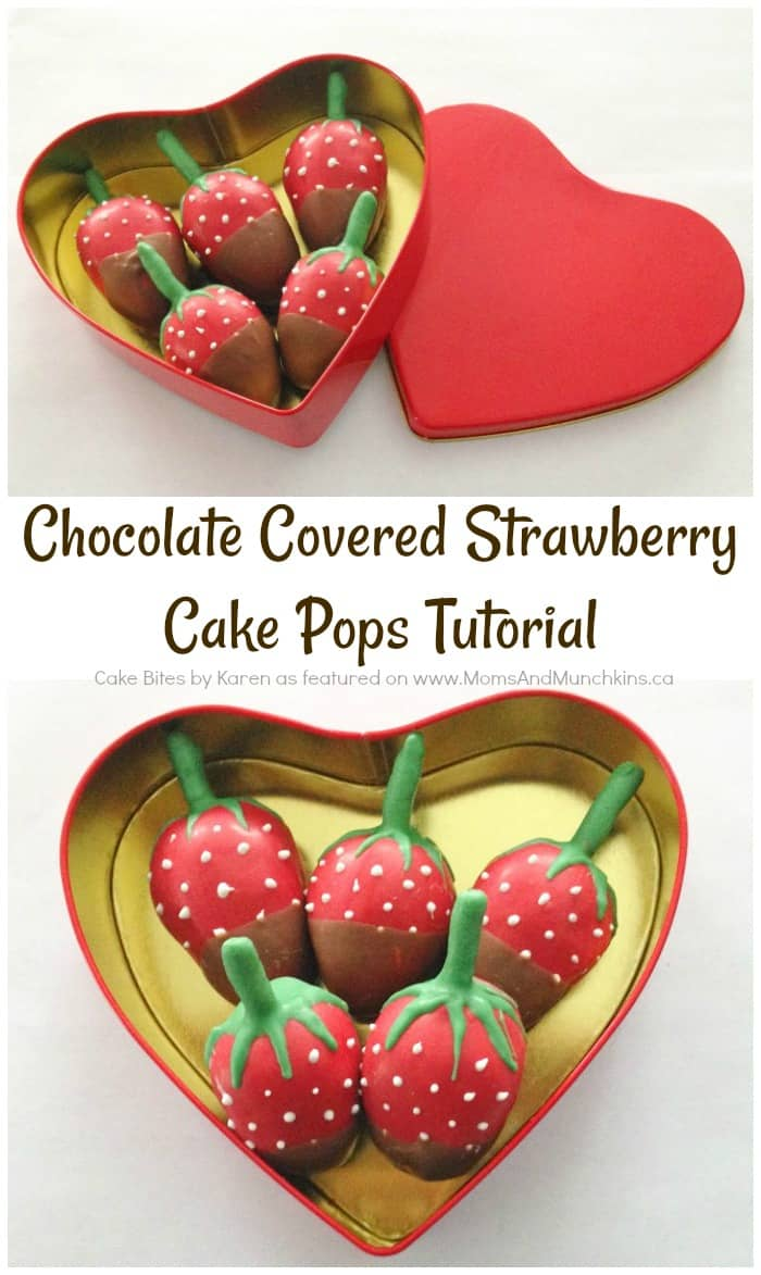 Chocolate Covered Strawberry Cake Pops Tutorial