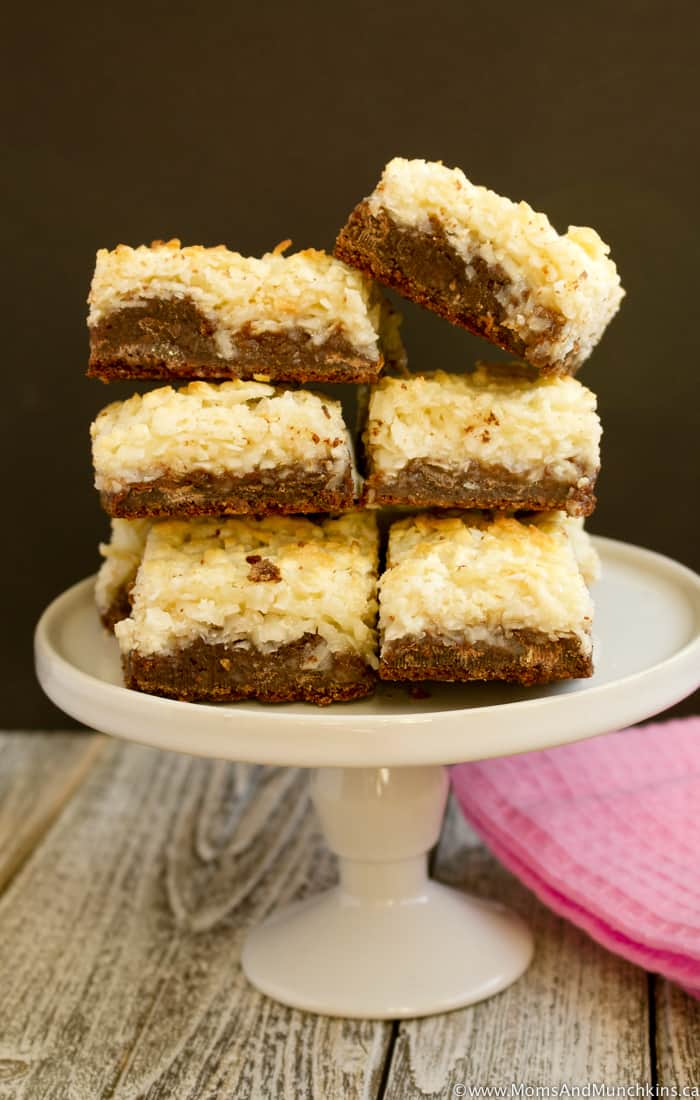 Chocolate Macaroon Cookie Bars Recipe