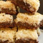 Chocolate Macaroon Cookie Bars Recipe
