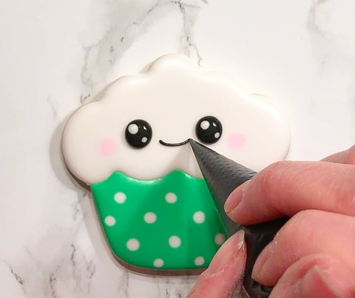 Kawaii Cupcake Cookies for St. Patrick's Day