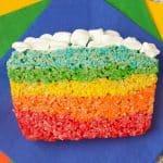 Rainbow Rice Krispie Cake