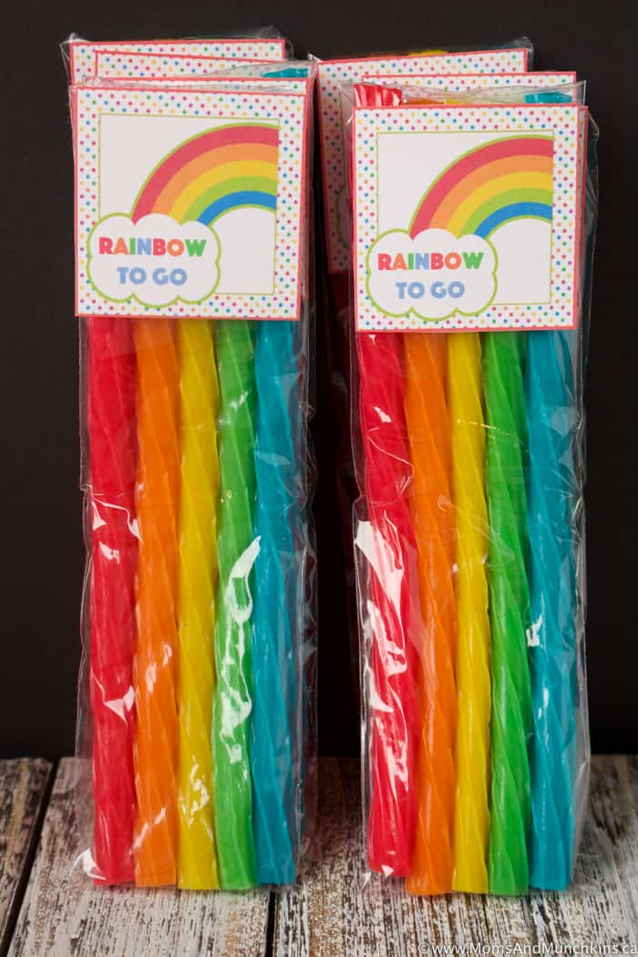 Rainbow To Go Treats for St. Patrick's Day