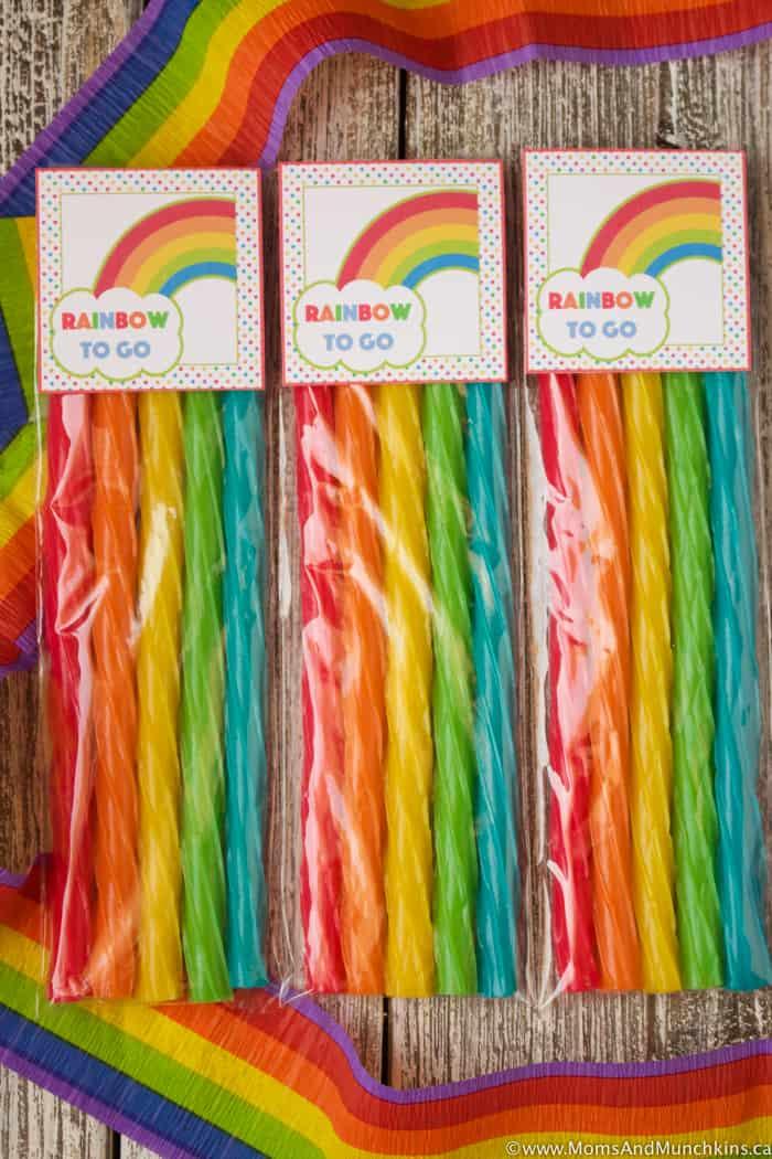 Rainbow To Go Treats for St. Patrick's Day