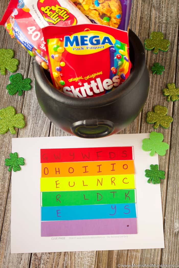 Rainbow Treasure Hunt Game for St. Patrick's Day
