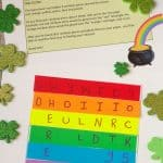 Rainbow Treasure Hunt Game for St. Patrick's Game