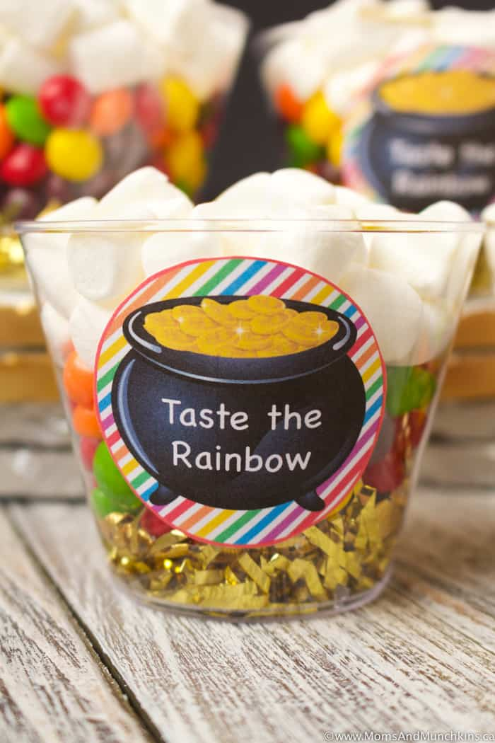 Taste The Rainbow Treat Cups for St. Patrick's Day