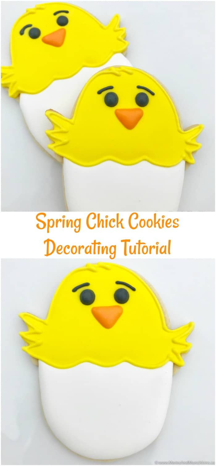 Easter Chick Cookies Decorating Tutorial