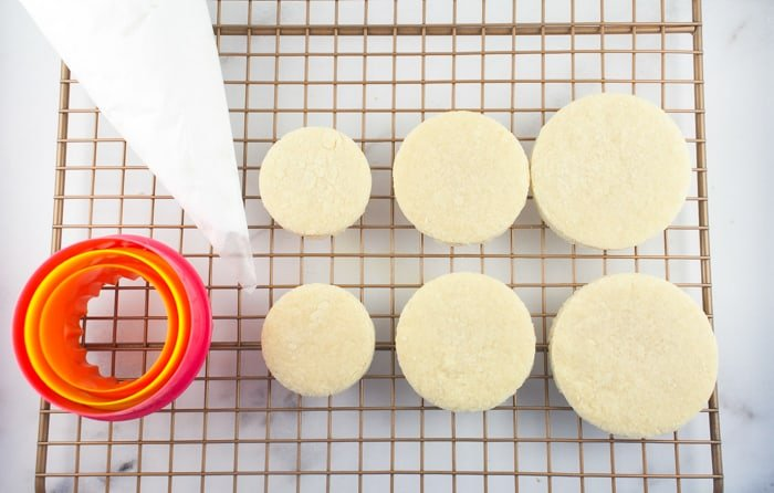 Mini Wedding Cookie Cakes - Sugar Cookie Recipe