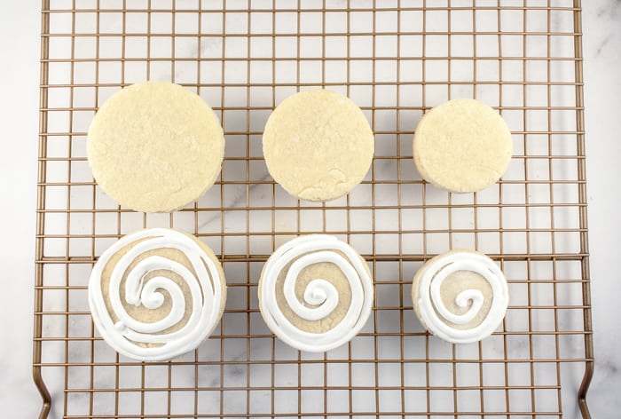 Mini Wedding Cookie Cakes Tutorial