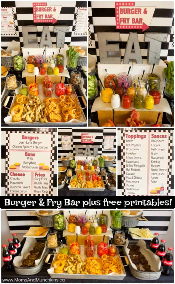 Burger and Fry Bar Ideas