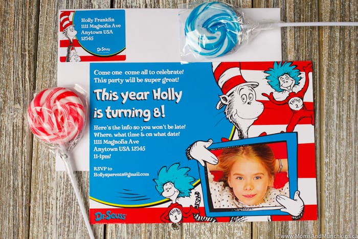 Dr Seuss Party Invitation