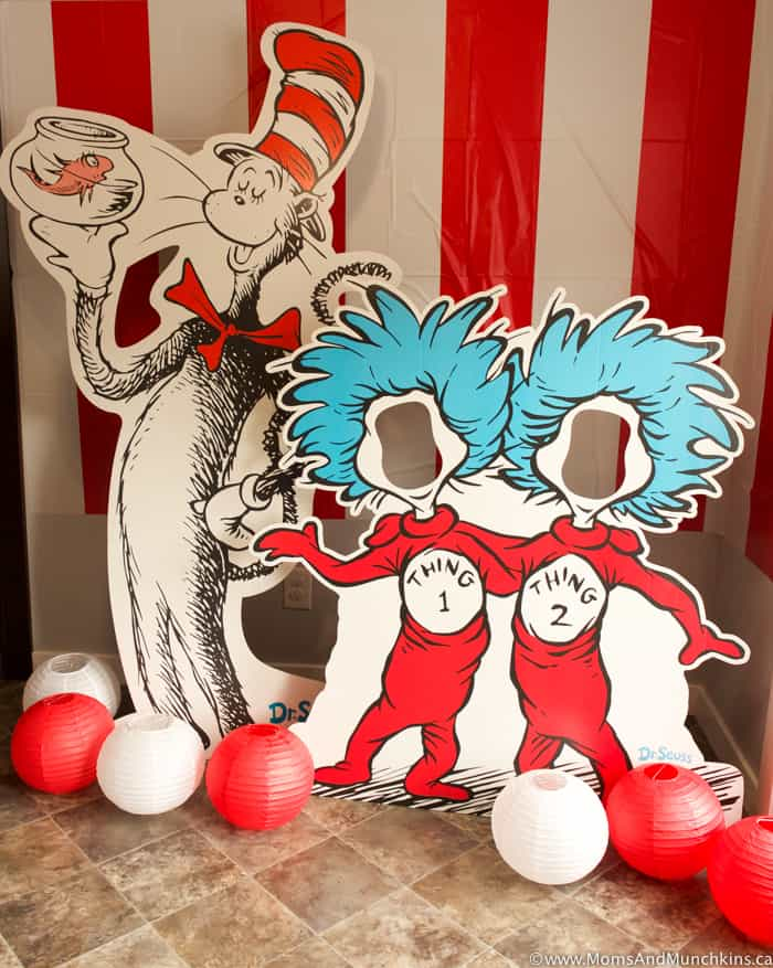 Thing 1 and Thing 2 Photo Booth