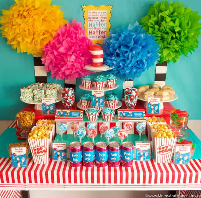 Cat In The Hat Dr Seuss Party Ideas