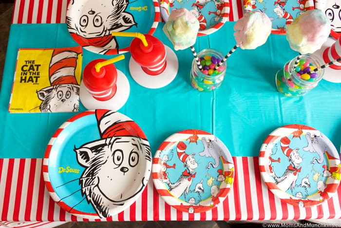 Cat In The Hat Party Table Ideas