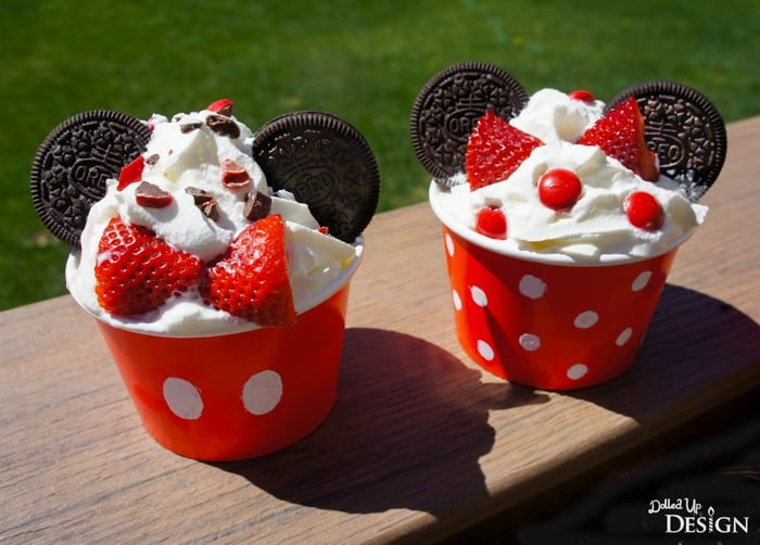 Mickey Mouse Ice Cream Sundaes