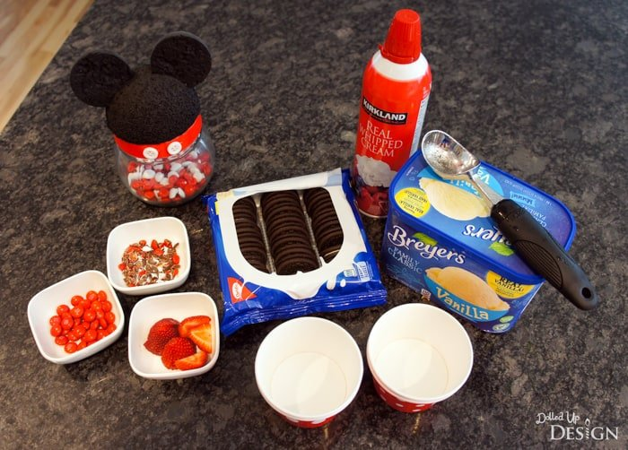 Mickey Mouse Ice Cream Buffet Idea