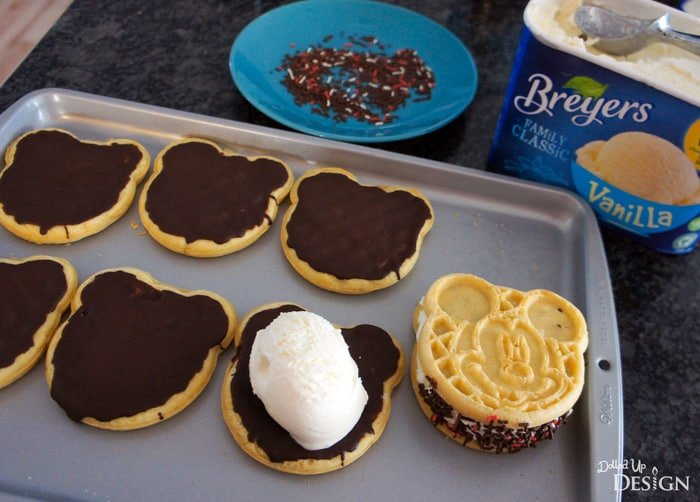 DIY Mickey Ice Cream Sandwiches