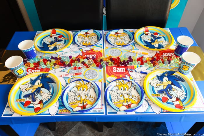 Sonic The Hedgehog Party Table