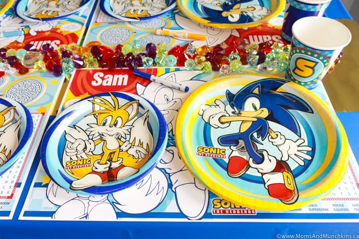 Sonic The Hedgehog Paper Plates