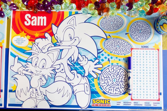 Sonic The Hedgehog Activity Mats