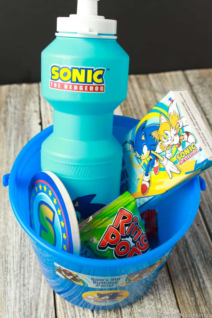 Sonic The Hedgehog Birthday Favors