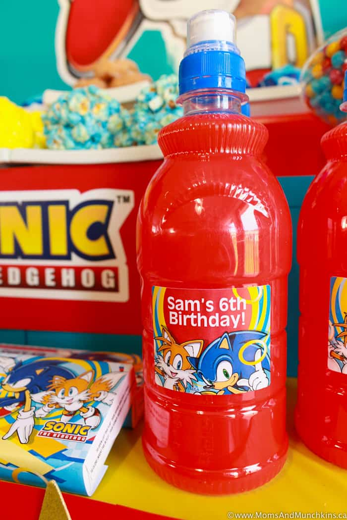 Sonic The Hedgehog Party Drinks