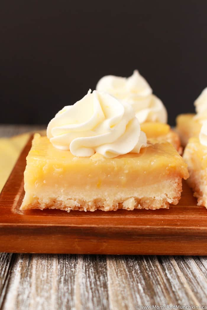 Lemon Squares Made From Scratch