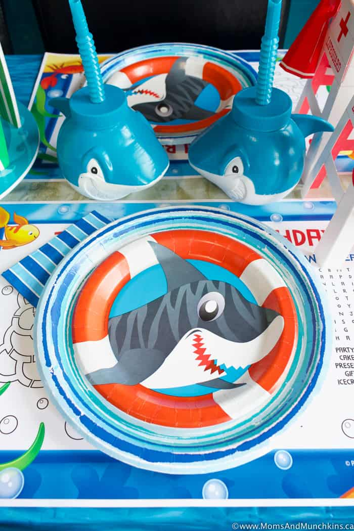 Shark Party Ideas And Decorations Moms Amp Munchkins