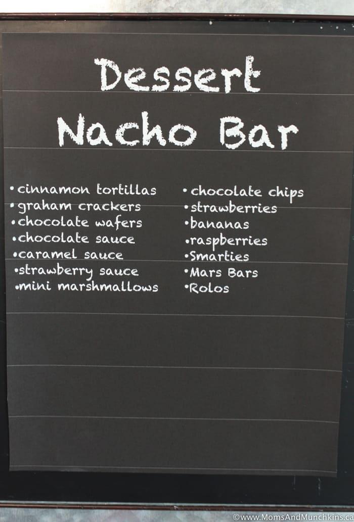 Dessert Nacho Buffet
