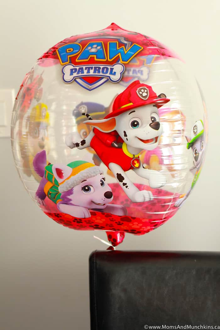 Paw Patrol Party Balloons