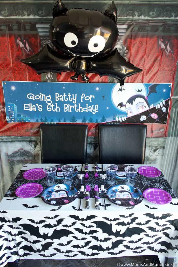 Vampirina Party Table