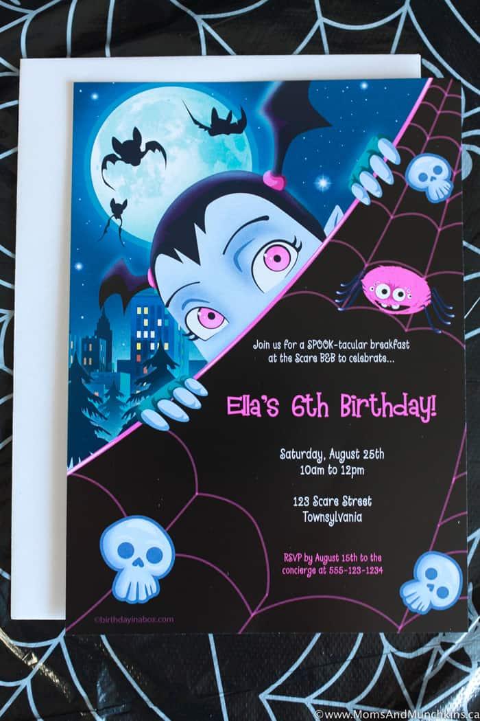Vampirina Birthday Invitation